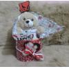 Ursinho de Pelúcia Dia dos Namorados Com Pote Decorado Personalizado
