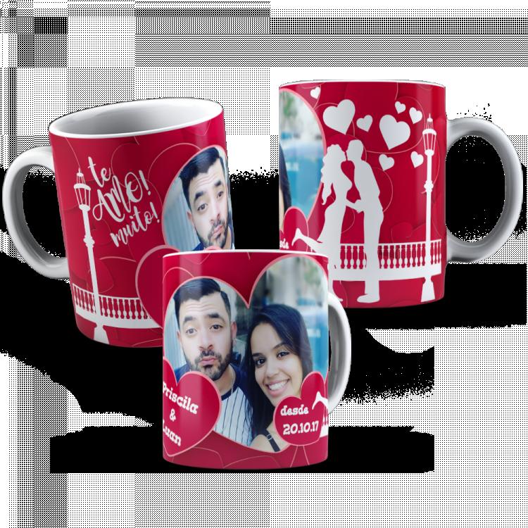 Caneca Dia dos Namorados com Foto Te Amo Muito