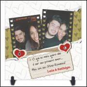 Azulejo Dia dos Namorados Personalizado com Foto e Nome - Modelo 02