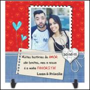 Azulejo Dia dos Namorados Personalizado com Foto e Nome - Modelo 04