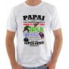 Camiseta Dia dos Pais - Papai Super Herói