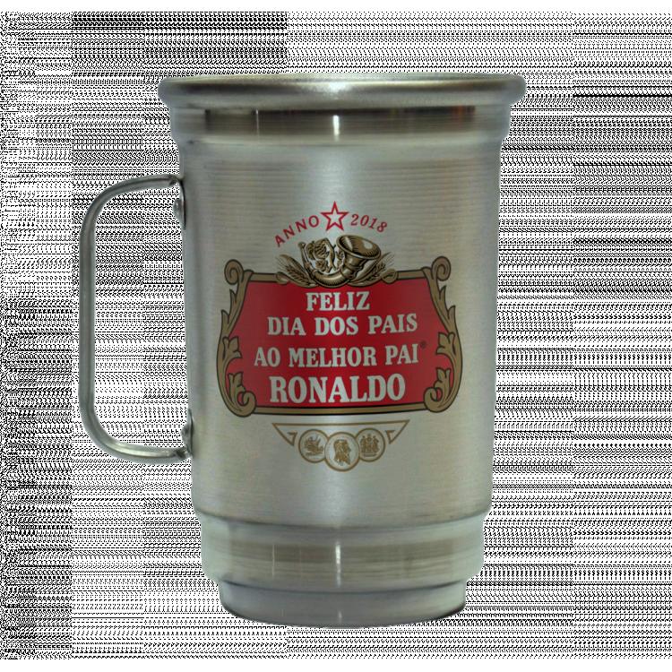 Caneca em Alumínio Dia dos Pais Stella Artois com Nome do Pai - 600ml