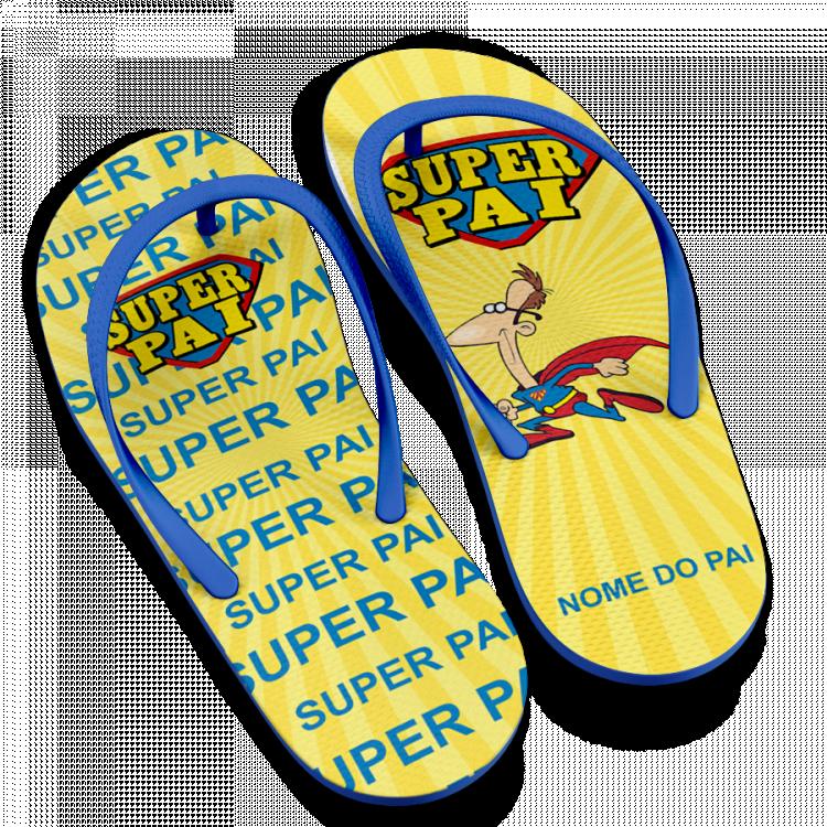 Chinelo Dia dos Pais Super Herói Super Pai- Modelo 02 Personalizado