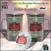 Kit Caneca Dia dos Pais em Aluminio + Abridor de Garrafa - Stella Artois