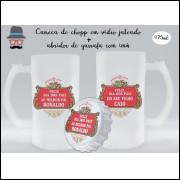 Kit Caneca de Chopp Dia dos Pais + Abridor de Garrafa Stella Artois