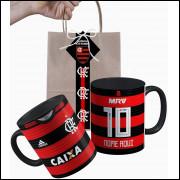 Caneca Flamengo 2018 nº1 Personalizada com Nome e Embalagem Presenteável