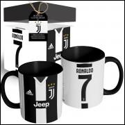 Caneca Camisa Juventus Cristiano Ronaldo 2018 Camisa nº1 + Caixinha Personalizada
