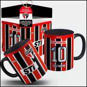 Caneca São Paulo Camisa 1992 STI Nº2 - Com Seu Nome + Caixinha
