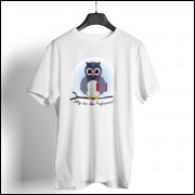Camiseta Dia dos Professores Unissex - Coruja Azul