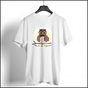 Camiseta Dia dos Professores Unissex - Coruja Marrom