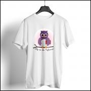 Camiseta Dia dos Professores Unissex - Coruja Roxa