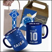 Caneca Cruzeiro Copa do Brasil 2018 Nº1 Personalizada com Embalagem