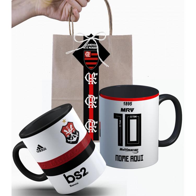 Caneca Flamengo 2019 nº2 Personalizada com Nome e Embalagem Presenteável