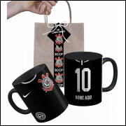 Caneca Corinthians 2019 Nº2 Personalizada com Nome e Embalagem Presenteável