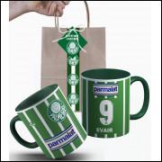 Caneca Palmeiras 1993 Personalizada com Nome e Nº e Embalagem Presenteável