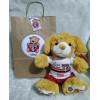 Ursinho de Pelúcia São Paulo - Cãozinho Personalizado com Nome e Número e Embalagem Presenteável