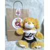 Ursinho de Pelúcia Vasco - Cãozinho Personalizado com Nome e Número e Embalagem Presenteável