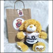Ursinho de Pelúcia Botafogo - Cãozinho Personalizado com Nome e Número e Embalagem Presenteável