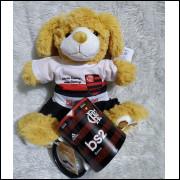 Ursinho de Pelúcia Flamengo + Caneca Personalizada e Embalagem Presenteável