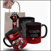 Caneca Hino do Flamengo Personalizada com Nome e Embalagem Presenteável