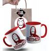 Caneca Casa de Papel em Cerâmica com Embalagem Presenteável