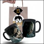 Caneca Harry Potter Saga em Cerâmica e Embalagem Presenteável