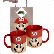 Caneca Game Super Mario Bros em Ceramica e Embalagem Presenteável