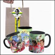 Caneca Ayrton Senna com Fotos e Embalagem Presenteável