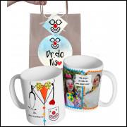Caneca para Palhaço Doutores da Alegria com Nome e Foto personalizada e Embalagem