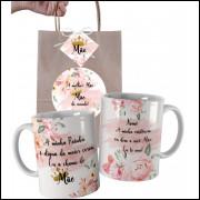 Caneca Para Mãe Personalizada com Nome e Embalagem Presenteável