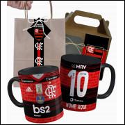Caneca Flamengo 2020 nº1 Personalizada Com Nome e Nº e Embalagem