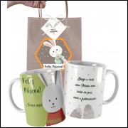 Caneca de Páscoa Personalizada com Nome e Embalagem Presenteável