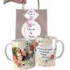 Caneca Dia das Mães para Mãe com Uma Foto Personalizada com Nome e Embalagem Presenteável
