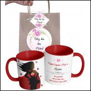 Caneca Dia das Mães para Super Esposa Personalizada com Nome e Embalagem Presenteável