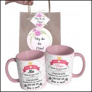 Caneca Dia das Mães para Mãe Personalizada com Nome e Embalagem Presenteável