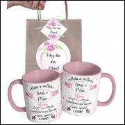 Caneca Dia das Mães para Irmã Personalizada com Nome e Embalagem Presenteável