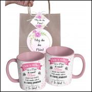 Caneca Dia das Mães para Vó Personalizada com Nome e Embalagem Presenteável