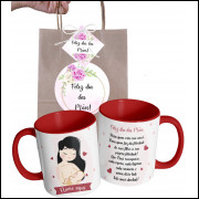 Caneca Dia das Mães para Futura Mãe Personalizada com Nome e Embalagem Presenteável