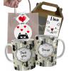 Caneca de Gato Pai De Gatos com Nome e Embalagem Presenteável