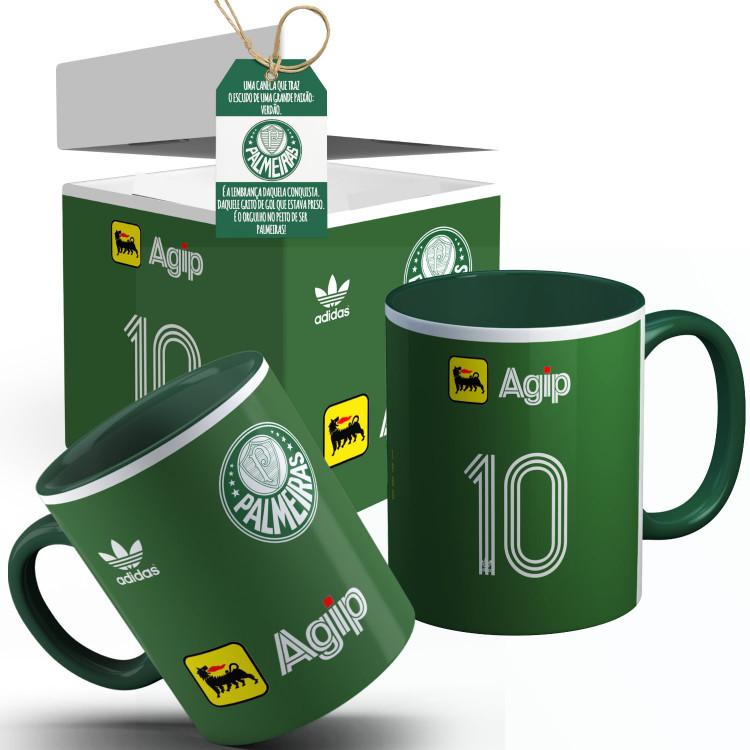 Caneca Palmeiras Camisa 1988 Com seu  Nome + Caixinha Personalizada