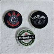 Abridor de Garrafa com Imã-Corinthians-Heineken-Jack Daniels