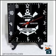 Relógio de mesa Corinthians Hepta Campeão em Azulejo 20x20