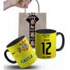 Caneca Corinthians Mundial Goleiro Cássio 2012 Personalizada com Nome e Embalagem Presenteável