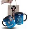 Caneca Corinthians  2016 nº3 Azul Personalizada com Nome e Embalagem