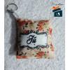 Chaveiro Almofadinha Floral com nome - Personalizado