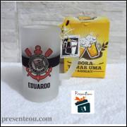 Caneca de Chopp Corinthians Vidro Fosco Lisa - 475ml Personalizável