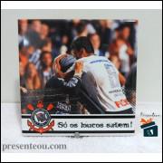 Quadro Corinthians Paulinho na Torcida - em Azulejo 20x20