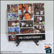 Quadro Corinthians Selfie do Romero - em Azulejo 20x20