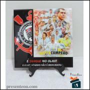 Quadro Corinthians Hepta de Respeito - em Azulejo 20x20