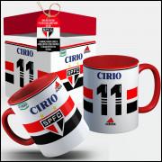 Caneca São Paulo Camisa 1998 Nº1 Com Seu Nome + Caixinha